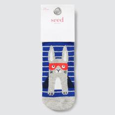 Rabbit Super Hero Socks  BLUE  hi-res