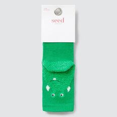 Fluffy Monster Socks  GREEN  hi-res