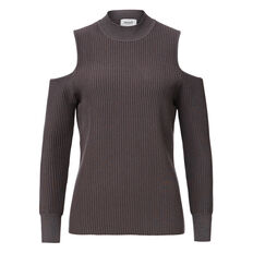 Cold Shoulder Knit  CHARCOAL MARLE  hi-res