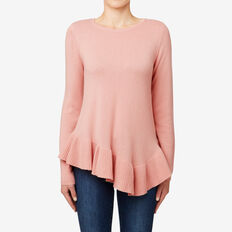 Asymmetrical Frill Sweater  SOFT BLUSH  hi-res