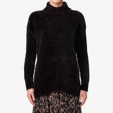 Lofty Roll Neck Sweater  BLACK  hi-res