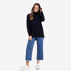 Curve Hem Comfy Sweater  DEEP NAVY  hi-res