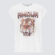 Tiger Print Tee  CANVAS  hi-res