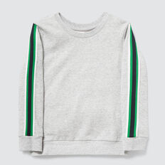 Side Stripe Sweat  PEBBLE MARLE  hi-res