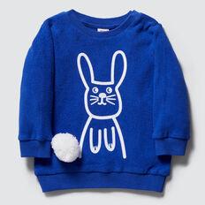 Pom Pom Bunny Sweater  DEEP COBALT  hi-res
