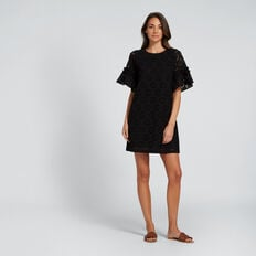 All-Over Broderie Dress  BLACK  hi-res