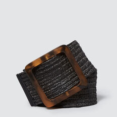 Square Buckle Belt  BLACK  hi-res