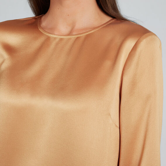 Satin Blouse  GOLDEN TAN  hi-res