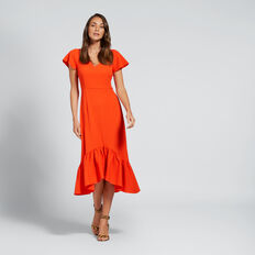 Frill Hem Dress  SPANISH RED  hi-res