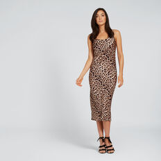 Printed Slip Dress  LEOPARD PRINT  hi-res
