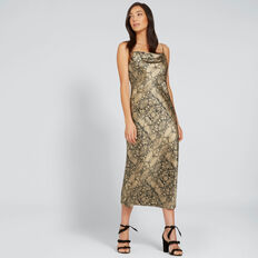 Printed Slip Dress  SNAKE PRINT  hi-res