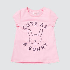 Cute Bunny Tee  BUBBLEGUM  hi-res