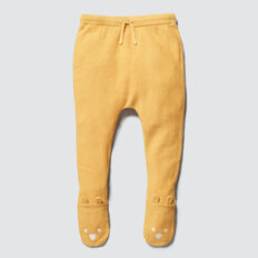 Footed Knit Legging  PALE MUSTARD  hi-res