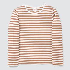Stripe Rib Tee  DARK BISCUIT/CANVAS  hi-res