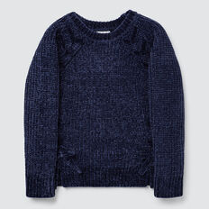 Chenille Sweater  NAVY  hi-res