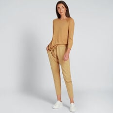 Seam Detail Harem Track Pant  GOLDEN TAN  hi-res