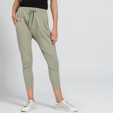 Seam Detail Harem Track Pant  WASHED OLIVE  hi-res