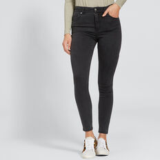 High Waist Skinny Jean  CHARCOAL DENIM  hi-res