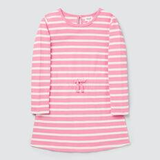 Stripe Tie Waist Dress  PINK BLUSH/CANVAS  hi-res