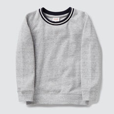 Pique Sweater  PEBBLE MARLE  hi-res