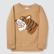 Tiger Chenille Sweater  BISCUIT  hi-res