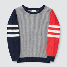 Sporty Stripe Sweater  MULTI  hi-res