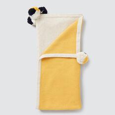 Pom Pom Knit Blanket  OAT MARLE  hi-res