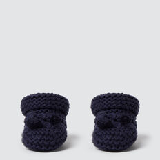 Knit Booties  NAVY  hi-res