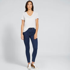 Core V-Neck Drapey Tee  LIGHT GREY MARLE  hi-res