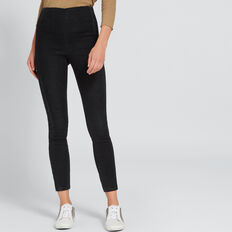 Seam Detail Jegging  WASHED BLACK  hi-res