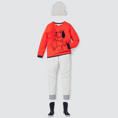 Textured Trackie  CLOUDY MARLE  hi-res
