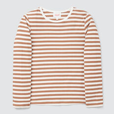 Stripe Rib Tee  DARK BISCUIT/CANVAS  hi-res