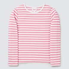 Stripe Rib Tee  PINK BLUSH/CANVAS  hi-res