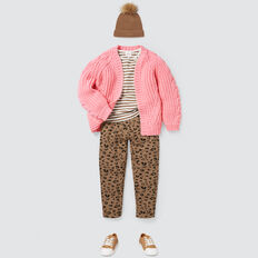 Cable Cardigan  PINK BLUSH  hi-res