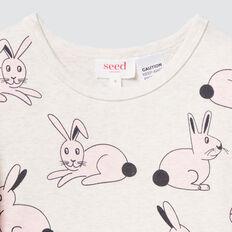 Bunny Yardage Pyjamas  OAT MARLE  hi-res