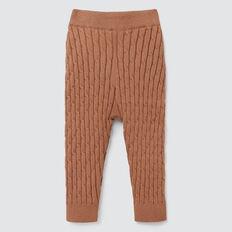 Cable Knit Legging  DARK BISCUIT  hi-res