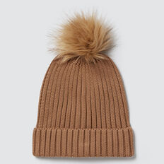 Rib Knit Beanie  DARK BISCUIT  hi-res