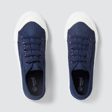 Mesh Lace-Up Runner  NAVY  hi-res