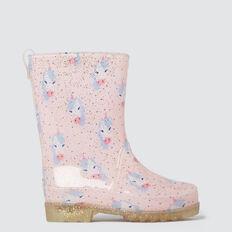 Unicorn Gumboot  PINK  hi-res