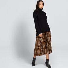 Easy High Neck Sweater  BLACK  hi-res