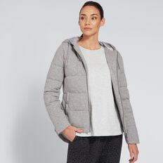 Jersey Puffer Jacket  SPECKLE GREY  hi-res