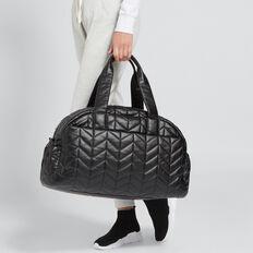 Quilted Gym Bag  BLACK  hi-res