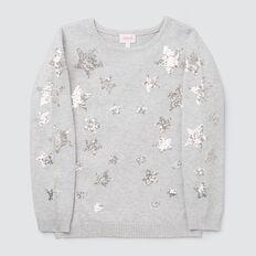 Sequin Star Sweater  CLOUD  hi-res