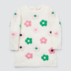Flower Knit Dress  CANVAS  hi-res