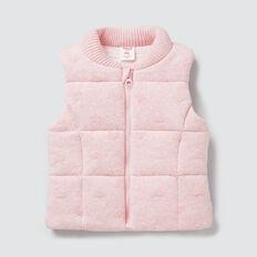 Heart Knit Vest  ICE PINK MARLE  hi-res