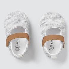 Knitted Mary Janes  GREY  hi-res