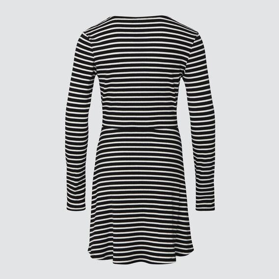 Rib Dress  BLACK/CANVAS  hi-res
