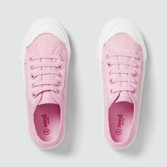 Mesh Lace-Up Runner  PINK  hi-res
