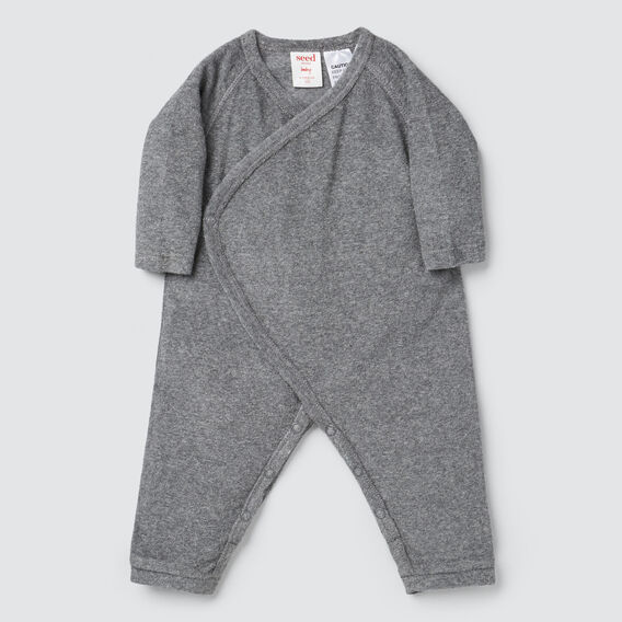 Terry Wrap Jumpsuit- Available in 00000  SLATE MARLE  hi-res