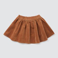 Flared Cord Skirt  DARK BISCUIT  hi-res